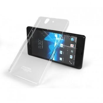Пластиковый транспарентный олеофобный премиум чехол для Sony Xperia Z
