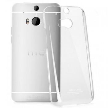 Пластиковый транспарентный олеофобный премиум чехол для HTC One (M8)