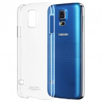 Пластиковый транспарентный олеофобный премиум чехол для Samsung Galaxy S5 Mini
