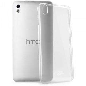 Пластиковый транспарентный олеофобный премиум чехол для HTC Desire 816