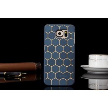 Пластиковый матовый дизайнерский чехол с принтом Соты для Samsung Galaxy S6 Edge Plus