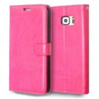 Глянцевый чехол портмоне подставка с защелкой для Samsung Galaxy S6 Edge Plus Пурпурный