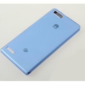 Ультратонкий силиконовый чехол для Huawei Ascend G6 Синий
