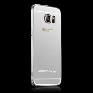 Гибридный металлический двухкомпонентный чехол и поликарбонатной крышкой с зеркальным покрытием для Samsung Galaxy S6 Edge Plus Белый