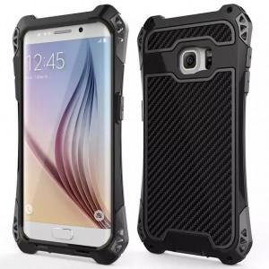 Антиударный гибридный металлический двухкомпонентный премиум чехол с поликарбонатной крышкой для Samsung Galaxy S6 Edge Plus