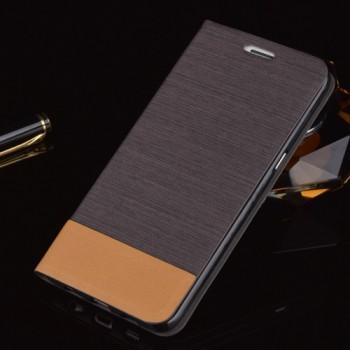 Текстурный чехол флип подставка на силиконовой основе с отделением для карт для Samsung Galaxy S6 Edge Plus
