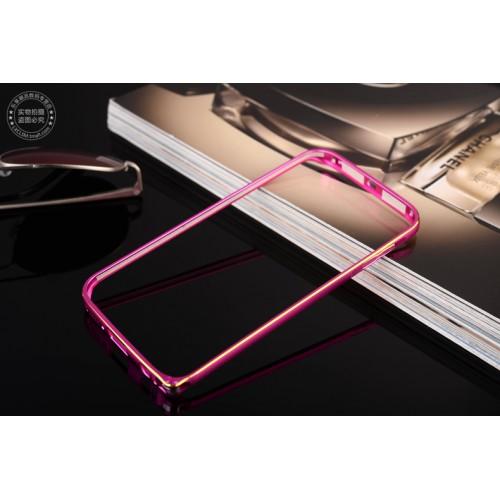 Металлический бампер с золотой окантовкой для Samsung Galaxy S6 Edge Plus