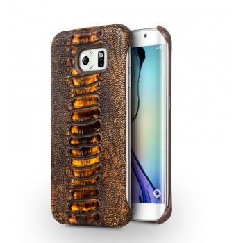 Кожаный чехол накладка (нат. кожа рептилии) для Samsung Galaxy S6 Edge Plus