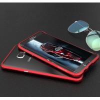 Металлический бампер сборного типа с подставкой для Samsung Galaxy S6 Edge Plus Красный
