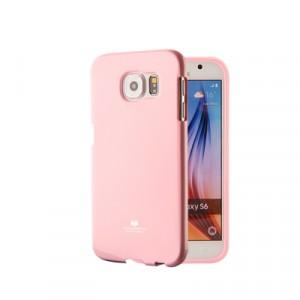 Силиконовый глянцевый непрозрачный чехол для Samsung Galaxy S6 Edge Plus Розовый