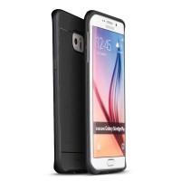 Гибридный чехол накладка силикон/поликарбонат для Samsung Galaxy S6 Edge Plus Черный