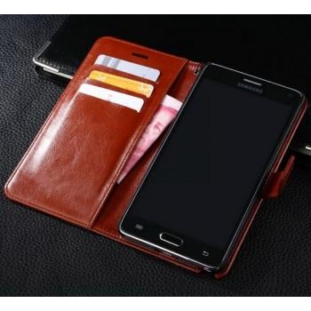 Чехол портмоне подставка глянцевый для Samsung Galaxy S5 (Duos)