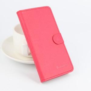 Чехол портмоне подставка на силиконовой основе с отделением для карт текстура Ткань для Microsoft Lumia 650 Красный