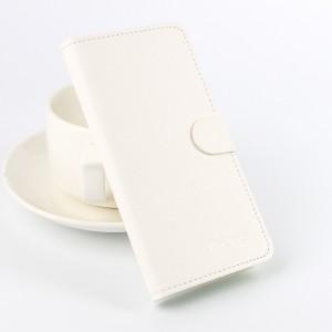 Чехол портмоне подставка на силиконовой основе с отделением для карт текстура Ткань для Microsoft Lumia 650 Белый
