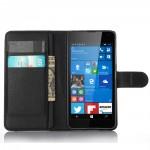 Чехол портмоне подставка с защелкой для Microsoft Lumia 650