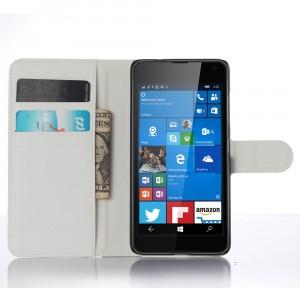 Чехол портмоне подставка с защелкой для Microsoft Lumia 650 Белый