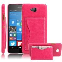 Дизайнерский чехол накладка с отделениями для карт и подставкой для Microsoft Lumia 650 Розовый