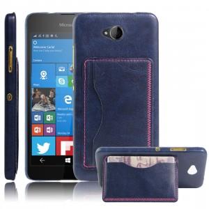 Дизайнерский чехол накладка с отделениями для карт и подставкой для Microsoft Lumia 650