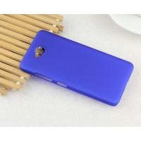 Пластиковый матовый непрозрачный Металлик чехол для Microsoft Lumia 650 Синий