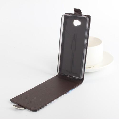 Чехол вертикальная книжка на силиконовой основе с магнитной застежкой и полноповерхностным принтом для Microsoft Lumia 650