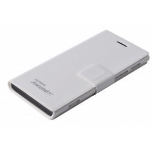 Чехол-флип подставка с магнитной застежкой и логотипомдля Huawei Ascend P2