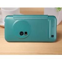 Чехол флип на пластиковой матовой нескользящей основе для Asus Zenfone Zoom Голубой