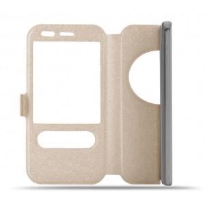 Чехол флип подставка на силиконовой основе с окном вызова и свайпом для Asus Zenfone Zoom