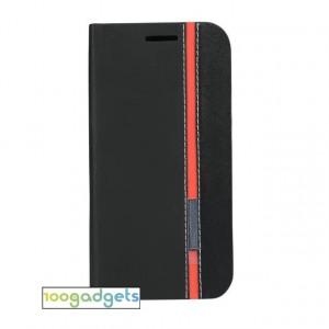 Текстурный чехол флип подставка на силиконовой основе с отделением для карты для Asus Zenfone Zoom Черный