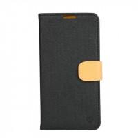 Текстурный чехол портмоне подставка на силиконовой основе с защелкой для Asus Zenfone Zoom Черный