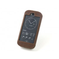 Персональный кожаный чехол бампер (нат. кожа) ручной работы для Yotaphone 2 (изготовление на заказ)