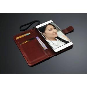 Глянцевый чехол портмоне подставка с защелкой для OnePlus X