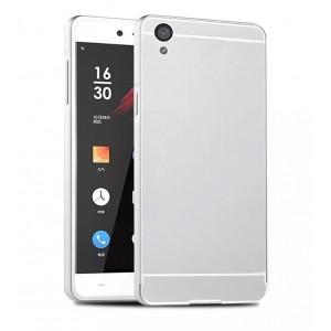 Двухкомпонентный чехол с металлическим бампером и поликарбонатной накладкой для OnePlus X Белый