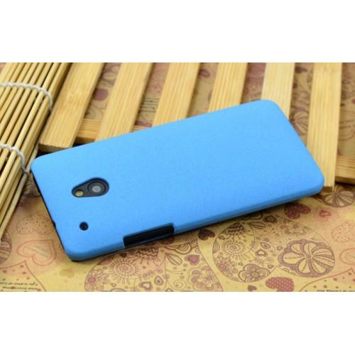 Пластиковый матовый чехол для HTC One Mini Синий