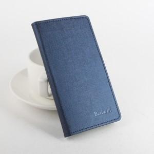 Чехол портмоне подставка на силиконовой основе с отделением для карт и магнитной защёлкой текстура Ткань для Lenovo A7010