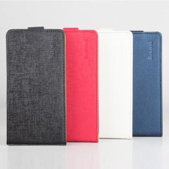Чехол вертикальная книжка на силиконовой основе с магнитной застежкой текстура Ткань для Lenovo A7010