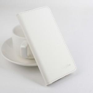 Чехол портмоне подставка на силиконовой основе с защелкой для Lenovo A7010 Белый
