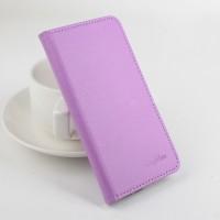 Чехол портмоне подставка на силиконовой основе с защелкой для Lenovo A7010 Фиолетовый