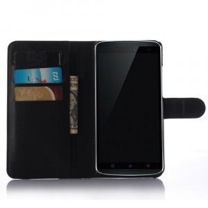 Чехол портмоне подставка с защелкой для Lenovo A7010 Черный