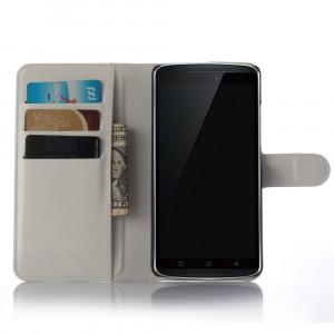 Чехол портмоне подставка с защелкой для Lenovo A7010 Белый