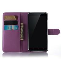Чехол портмоне подставка с защелкой для Lenovo A7010 Фиолетовый