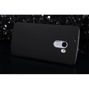 Пластиковый матовый нескользящий премиум чехол для Lenovo A7010 Черный