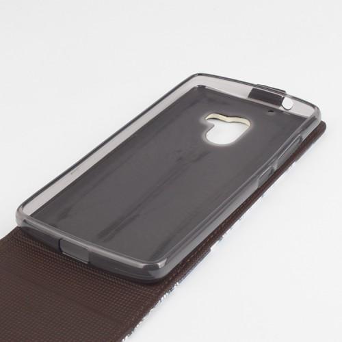 Чехол вертикальная книжка на силиконовой основе с магнитной застежкой с полноповерхностным принтом для Lenovo A7010