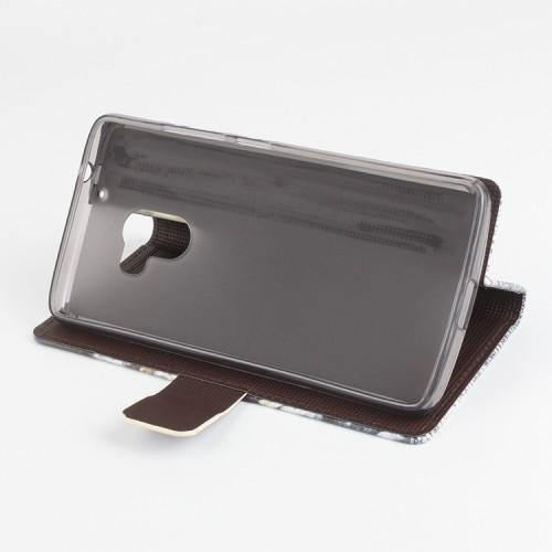 Дизайнерский чехол флип подставка с полноповерхностным принтом и застежкой для Lenovo A7010