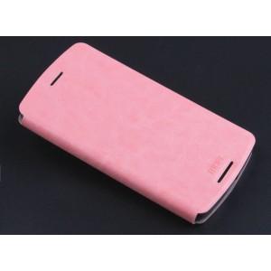 Водоотталкивающий чехол флип подставка на силиконовой основе для Lenovo A7010 Розовый