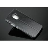 Чехол флип подставка на пластиковой основе для Lenovo A7010 Черный