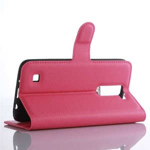 Чехол портмоне подставка с защелкой для LG K7 Розовый