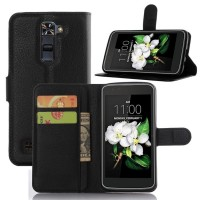 Чехол портмоне подставка с защелкой для LG K7 Черный