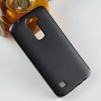 Силиконовый матовый чехол для LG K7 Черный