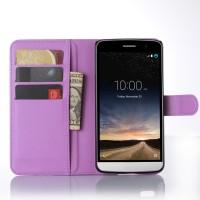 Чехол портмоне подставка с защелкой для LG Ray Фиолетовый