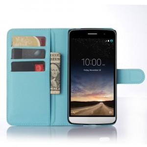 Чехол портмоне подставка с защелкой для LG Ray Голубой